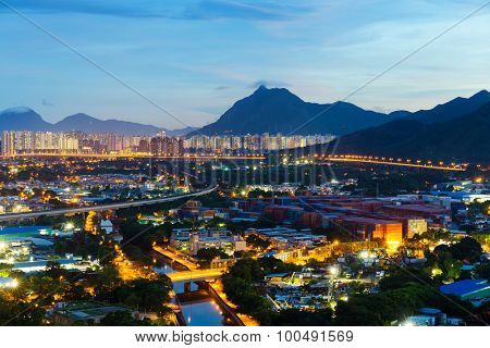 Cityscape in Hong Kong