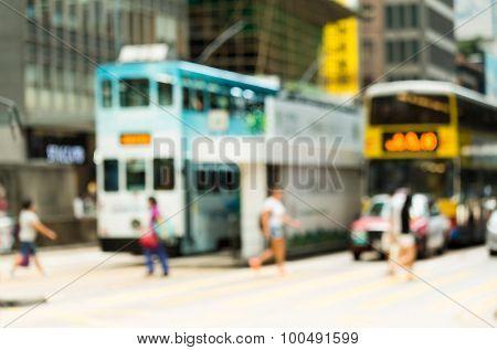 Blur view of Hong Kong road