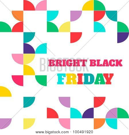 Black friday sale. Vector illustration. Clearance. Closeout sale ad on stylish unusual multicolor ba