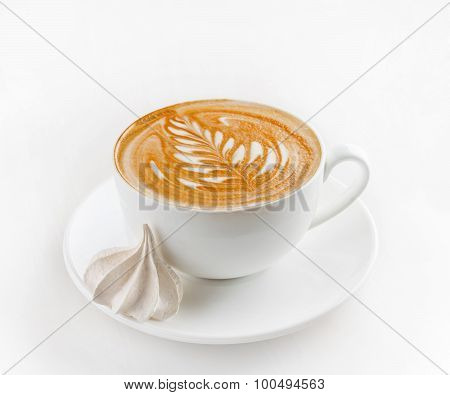 Cup of coffee with kiss