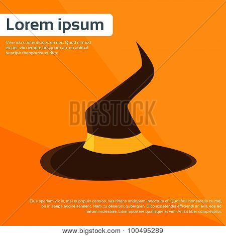 Witch Hat Halloween Costume Wear Flat Vector