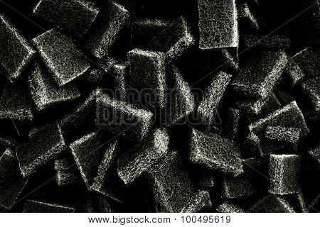 Abstract Square Scouring Pad