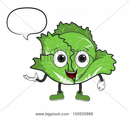Cartoon Cabbage With Text