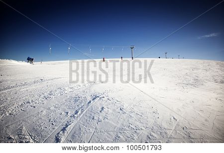 Ski slope - winter vacatiom