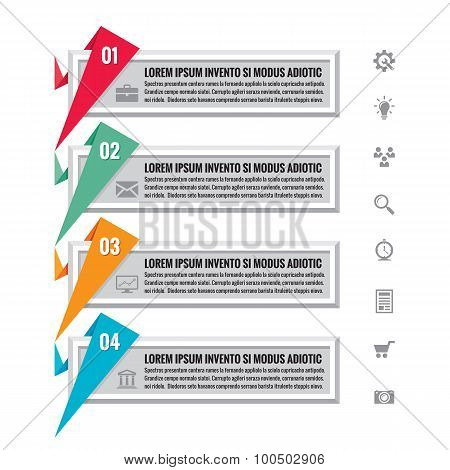 Infographic business concept - Infographic origami vector banners for different design projects.