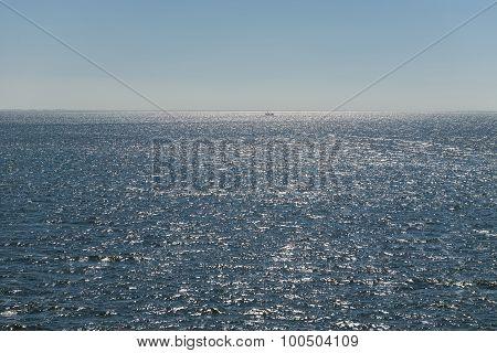 Sun over the Dutch Wadden Sea