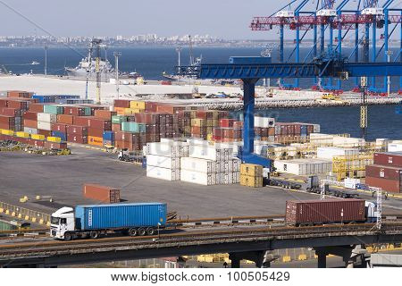 Container Terminal In Port.