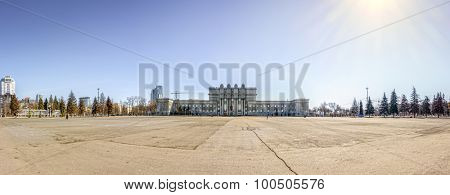 Kuibyshev Square and the State Academic Opera and Ballet Theater in Samara, Russia