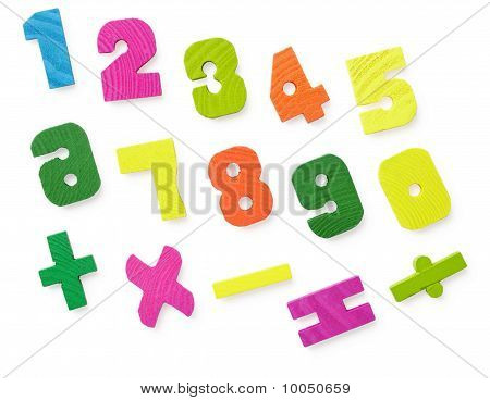 Wooden Figures For Study Of Mathematics