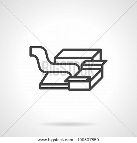 Packaging machine abstract vector icon