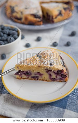 Home made Vanille Blueberry Cake