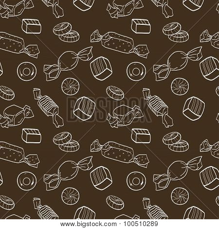 Cartoon Candies Pattern