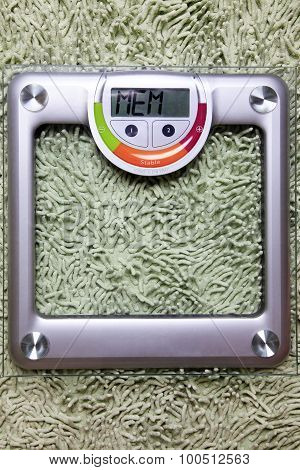 Floor Scales On The Glass