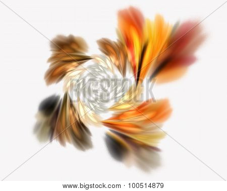 Abstract Fractal Design.  Blur On White.