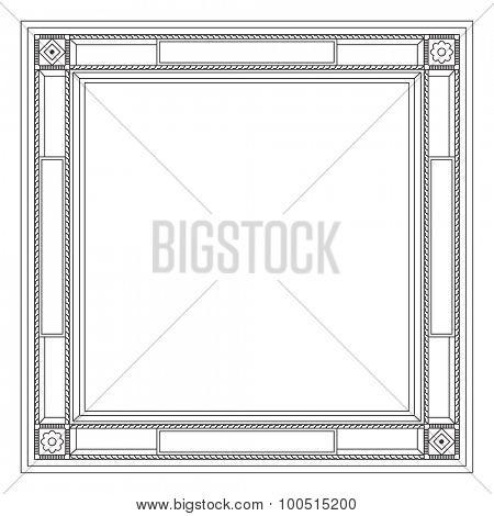 Decorative modern frame. Isolated illustration on white background