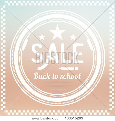 Back to School Label. Sale Design