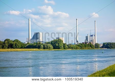 Steam Power Plant And Hard Coal-fired Power Station Rheinhafen-dampfkraftwerk Karlsruhe Enbw