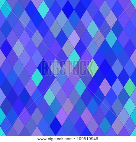 Vector Seamless Pattern With Rhombs. Abstract Bright Blue And Purple Texture. Geometrical Background