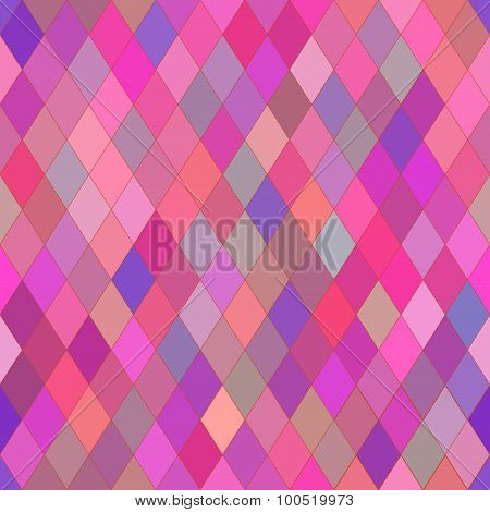 Vector Seamless Pattern With Rhombs. Abstract Bright Pink And Purple Texture. Geometrical Background