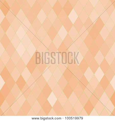 Vector Seamless Pattern With Rhombs. Abstract Beige Texture. Geometrical Background.