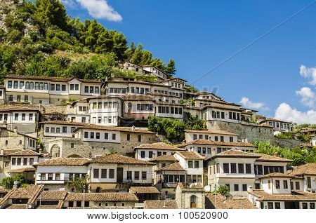 View at old city of Berat in Albania