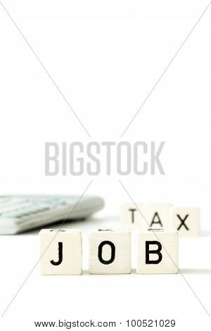 Job Tax Money Calculator Economy Concept