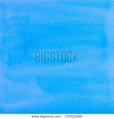 Blue Watercolor Abstraction As Background