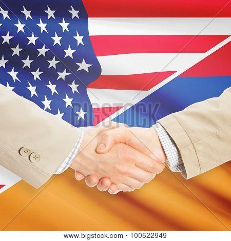 Businessmen Handshake - United States And Armenia