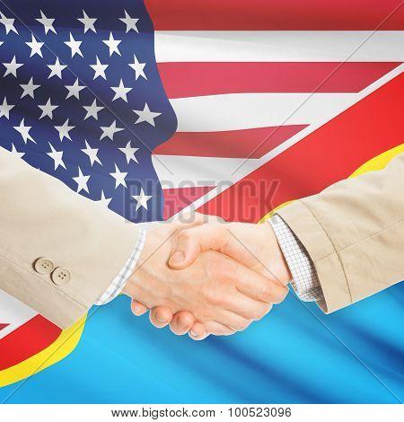 Businessmen Handshake - United States And Congo-kinshasa