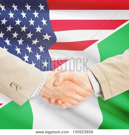 Businessmen Handshake - United States And Nigeria