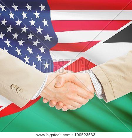 Businessmen Handshake - United States And Palestine