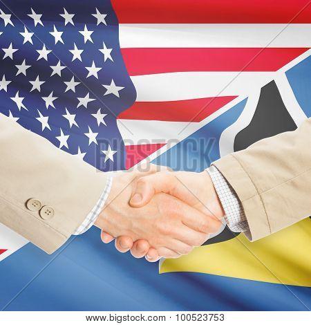 Businessmen Handshake - United States And Saint Lucia