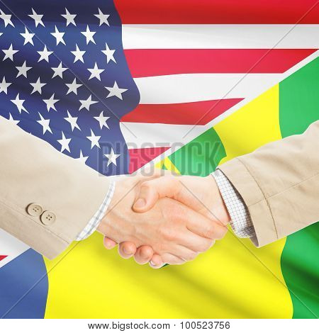 Businessmen Handshake - United States And Saint Vincent And The Grenadines