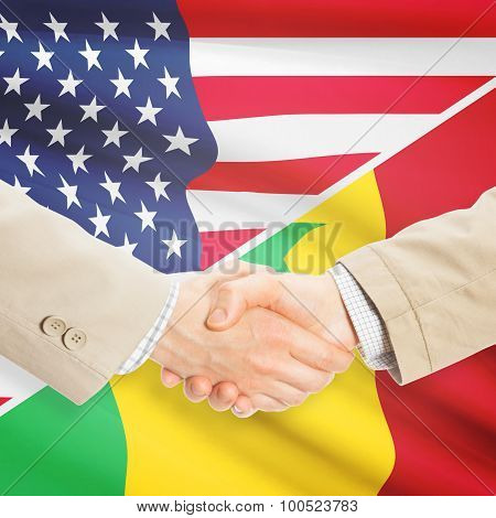 Businessmen Handshake - United States And Senegal