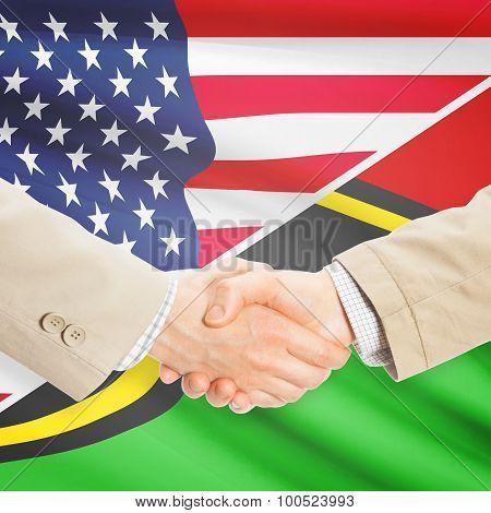 Businessmen Handshake - United States And Vanuatu
