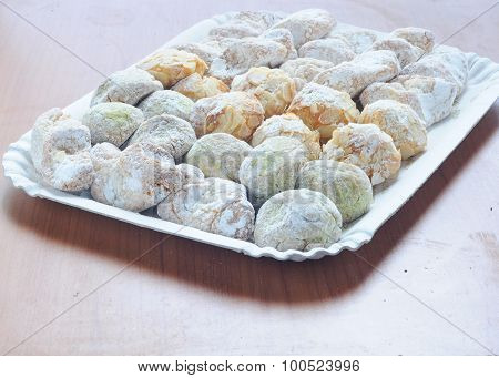 .sicilian Sweets Made With Almond Paste