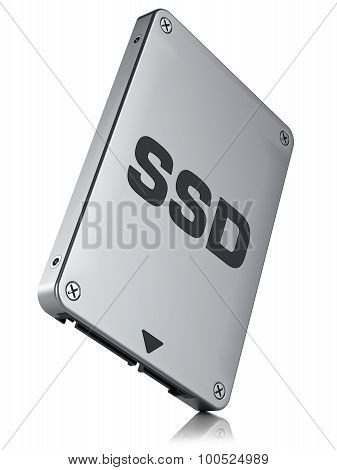 Ssd Drive, State Solid Drive Isolated On White Background 3D