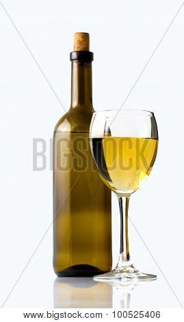 White Wine And Wine Glass