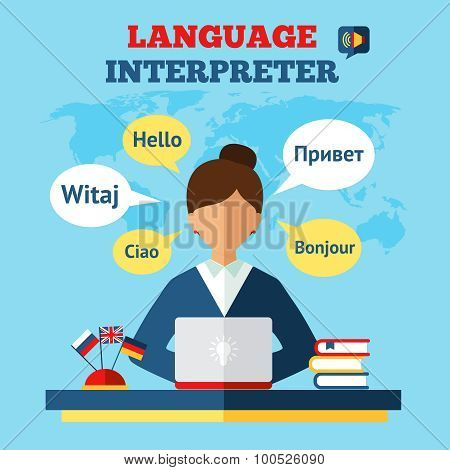 Language Translator Illustration