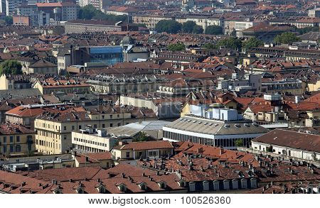 Aerial View Of A European Metropolis With Many Roofs