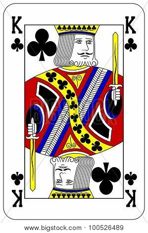 Poker Playing Card King Club