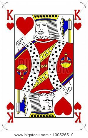 Poker Playing Card King Heart