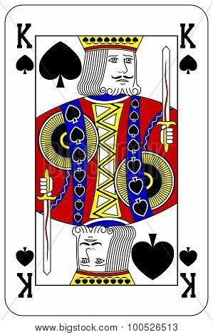 Poker Playing Card King Spade