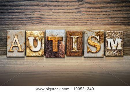 Autism Concept Letterpress Theme