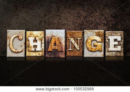 Change Letterpress Concept On Dark Background