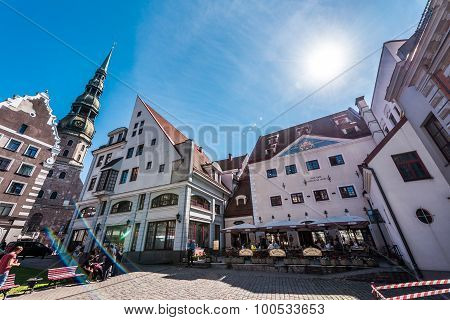 Town Hall Square In Riga