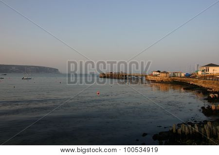 Pier and harbour