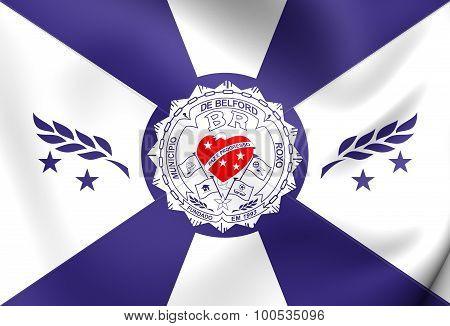 Flag Of Belford Roxo City, Brazil.