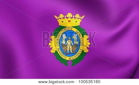 Flag Of Cadiz City, Spain.