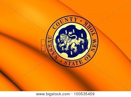 Flag Of Nassau County, New York.